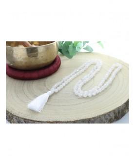 Mala Cristal de roche 108 perles