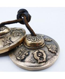 Tingsha 3 métaux avec gravure