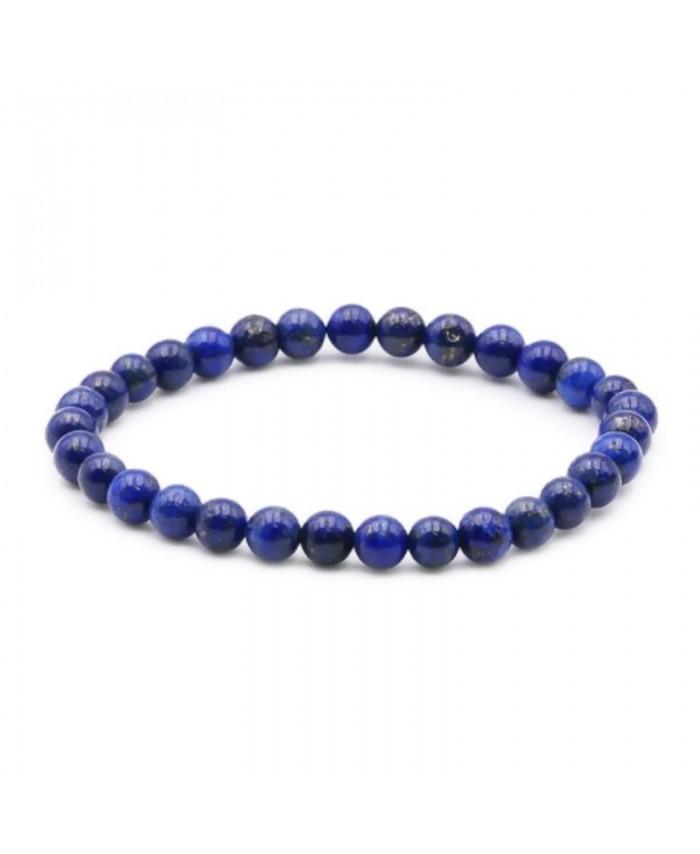 bracelet lapis lazuli boule 6mm