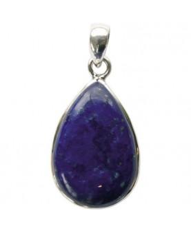 Pendentif Lapis Lazuli Argent 925 Forme goutte